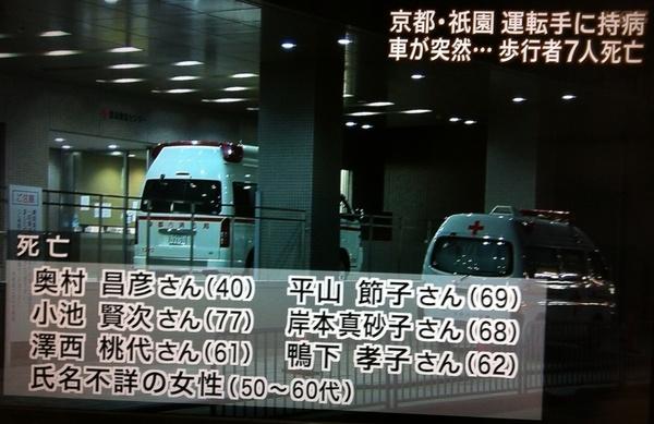京都 祇園 自動車事故 被害者 氏名